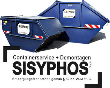 containerservice demontagen sisyphos gmbh. Black Bedroom Furniture Sets. Home Design Ideas